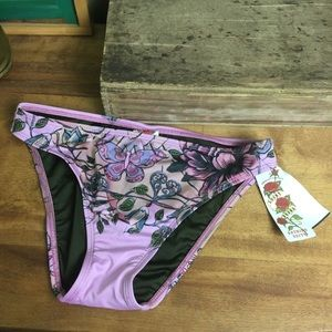 NWT Lucky Brand floral Pink Bathing Suit Bottoms